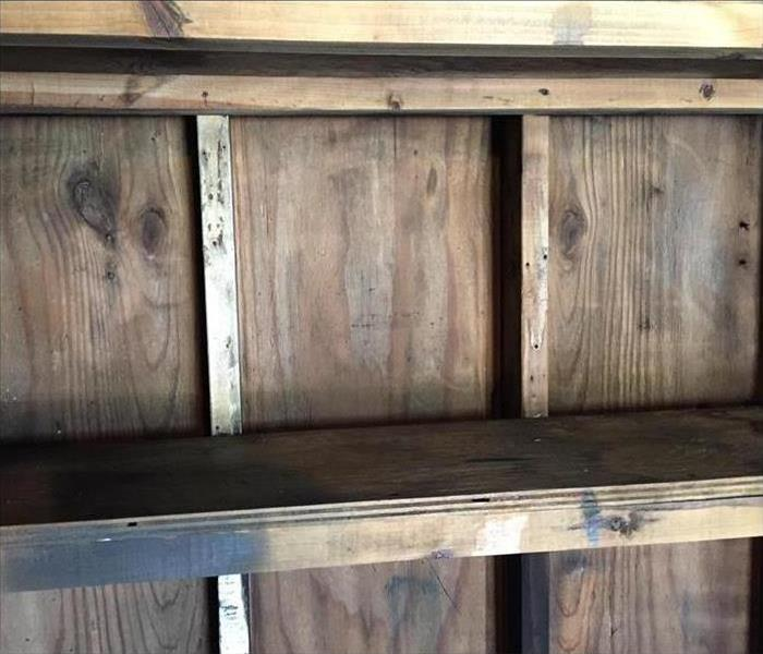 Fire Sponge on Wood After