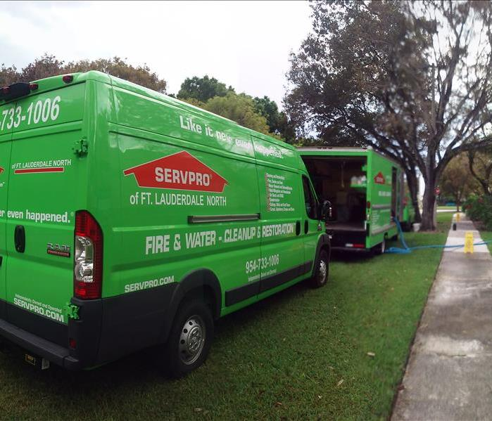 SERVPRO of Fort Lauderdale North Trucks Ready to Work