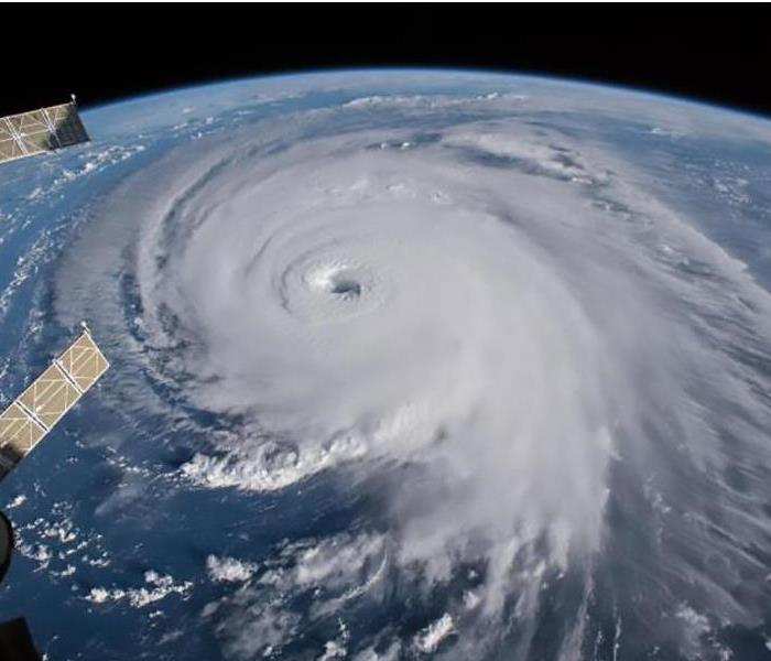 View of a hurricane from space station