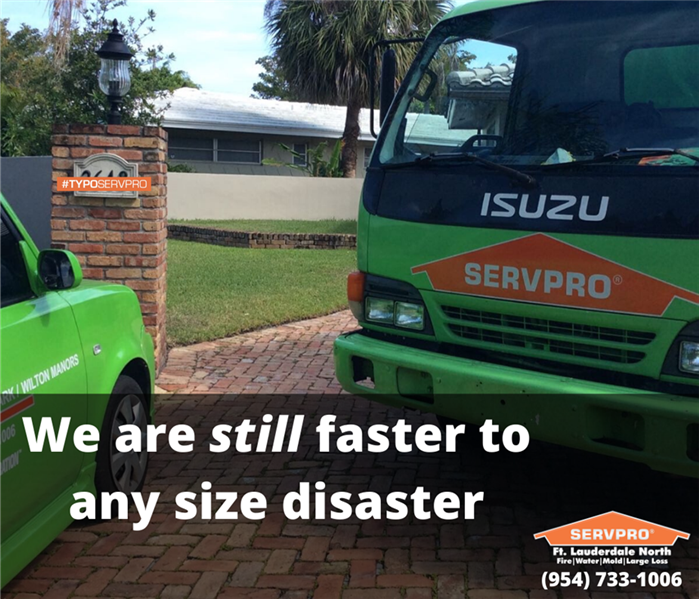 SERVPRO Vehicles Parked in the Driveway of someone in need.